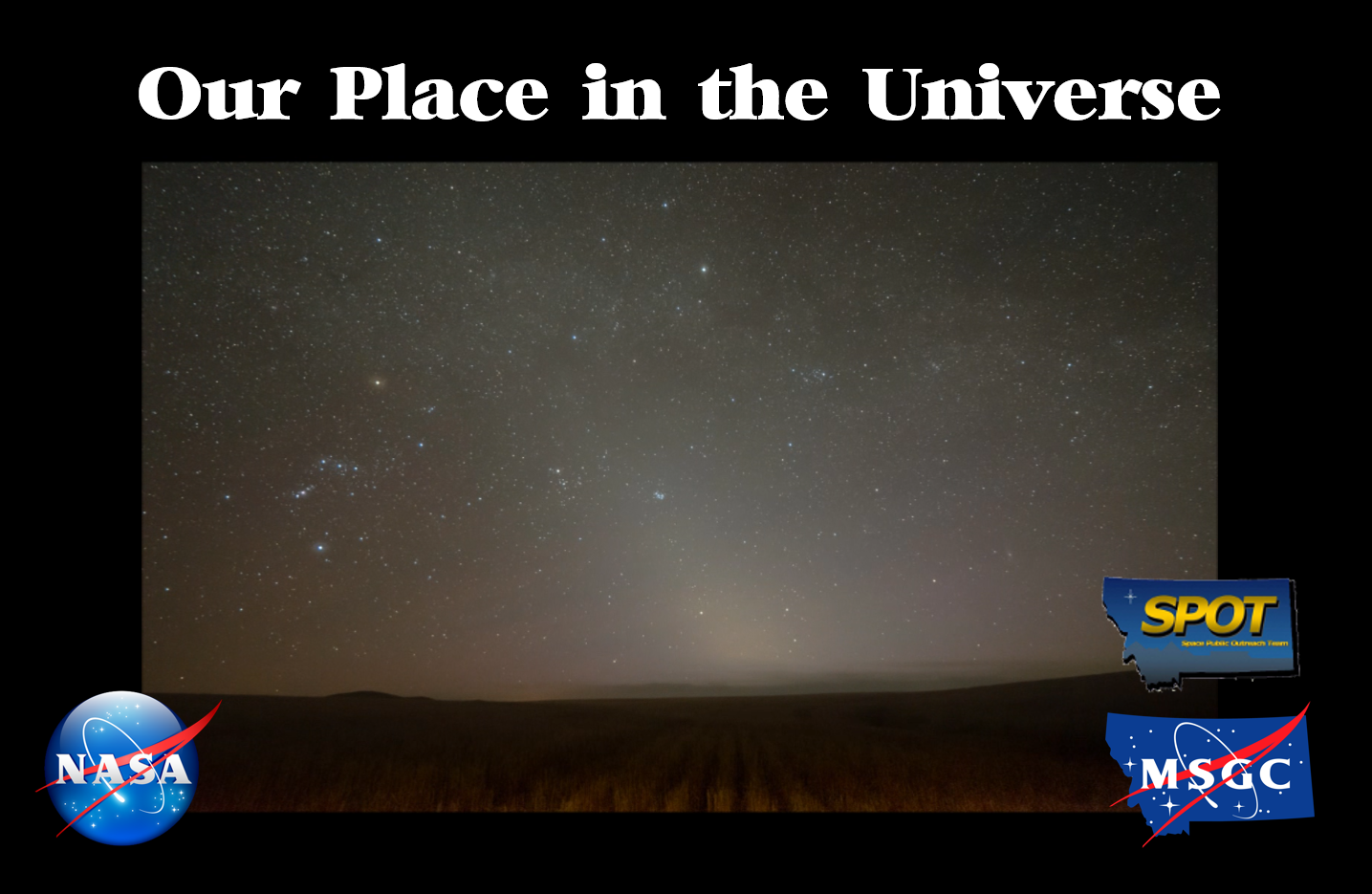 Our Place in the Universe SPOT Show